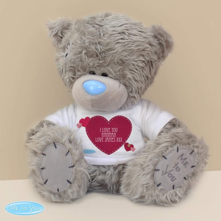 Personalised Me To You Teddy Bear Heart