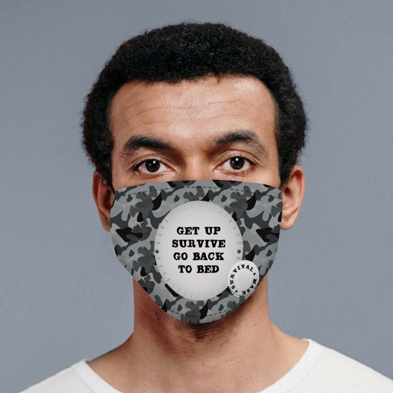 Personalised Face Mask – Camo Survival
