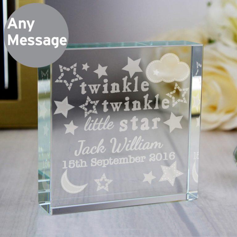 Personalised Twinkle Twinkle Large Crystal Token