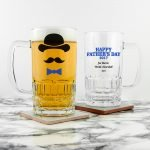 Personalised Beer Glass (Tankard) – Happy Father's Day
