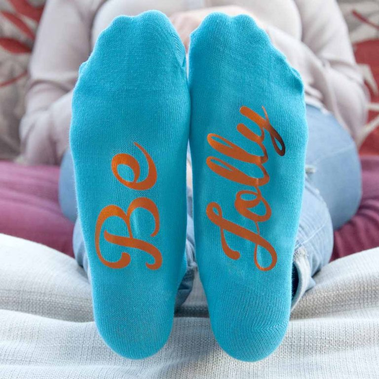 Personalised Socks (Turquoise & Orange) – Christmas Feel