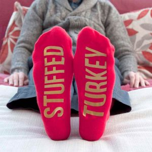 Personalised Socks (Crimson & Gold) – Christmas Feel