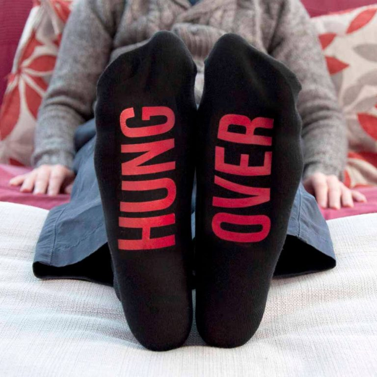 Personalised Socks (Jet Black & Crimson) – Your Message