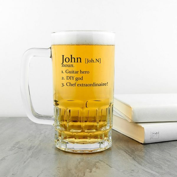 Personalised Beer Glass (Tankard) – Definition