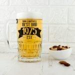 Personalised Beer Glass (Tankard) – Established In
