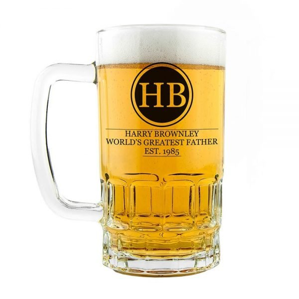 Personalised Beer Glass (Tankard) – World's Greatest Father