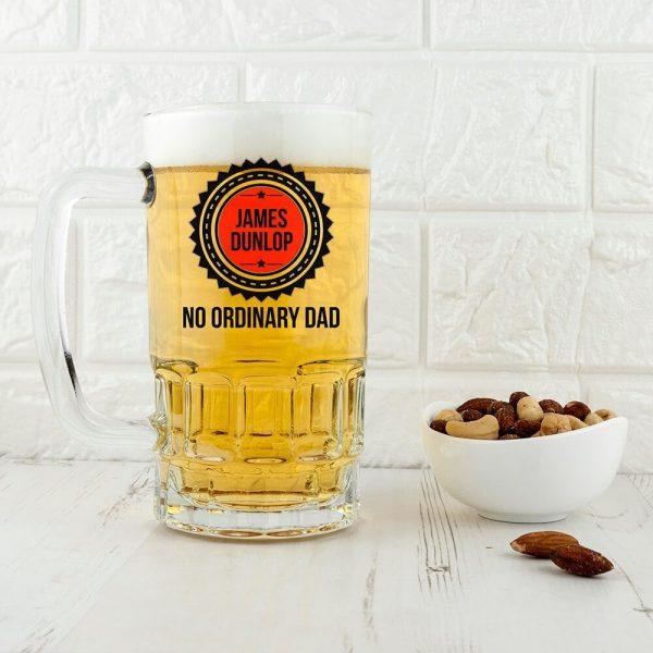 Personalised Beer Glass (Tankard) – No Ordinary Dad