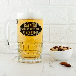 Personalised Beer Glass (Tankard) – World's Best Dad