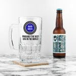 Personalised Beer Glass (Tankard) – Best Dad in the World