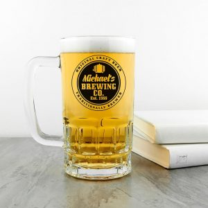 Personalised Beer Glass (Tankard) – Brewing Company