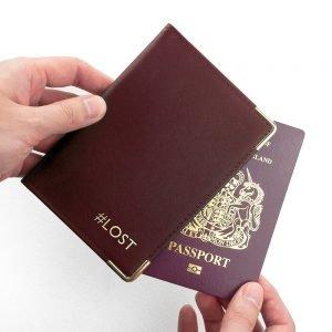 Personalised Luxury Leather Passport Holder – Burgundy