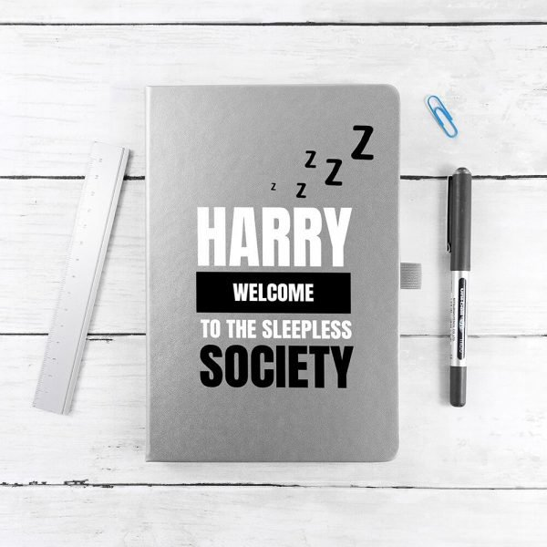 Personalised A5 Notebook – Sleepless Society