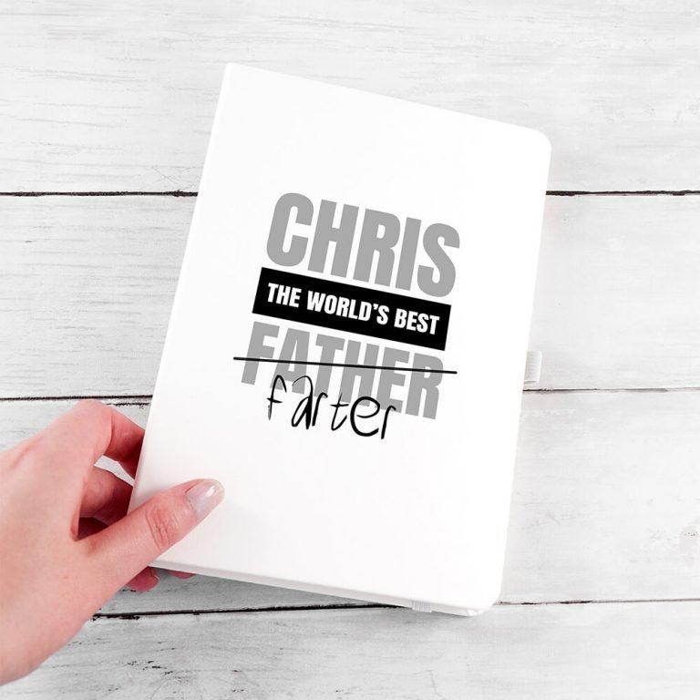 Personalised A5 Notebook – World's Best Farter