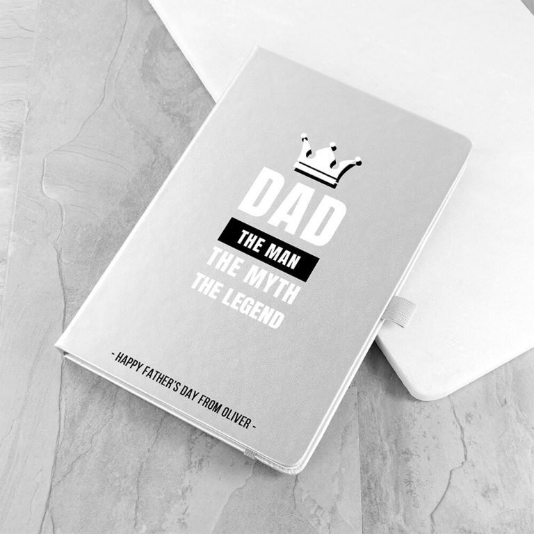 Personalised A5 Notebook – Dad the Legend