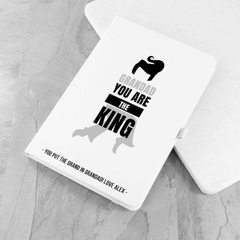 Personalised A5 Notebook – Grandad the King