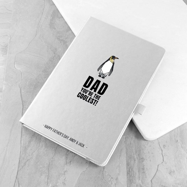 Personalised A5 Notebook – Dad the Coolest