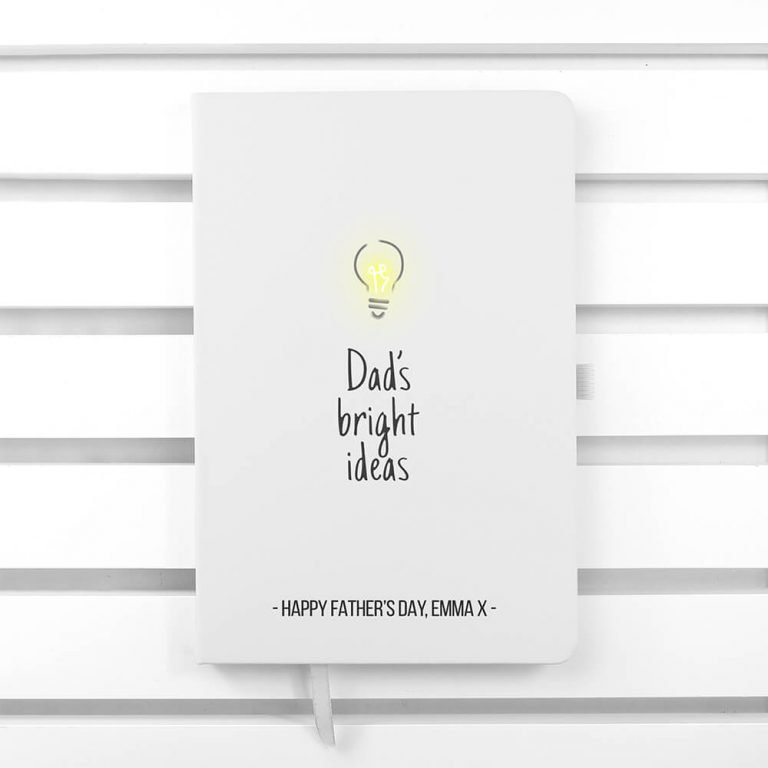 Personalised A5 Notebook – Dad's Bright Ideas
