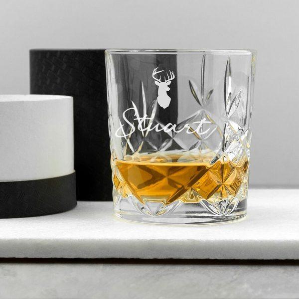 Personalised Whisky Tumbler – Name & Icon