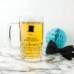 Personalised Wedding Beer Glass (Tankard) – Groomsman