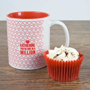 Personalised One In A Million Romantic Mug