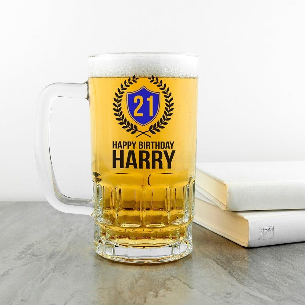 Personalised Beer Glass (Tankard) – Happy Birthday