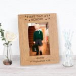 Personalised Wooden Photo Frame – 1st Day at School