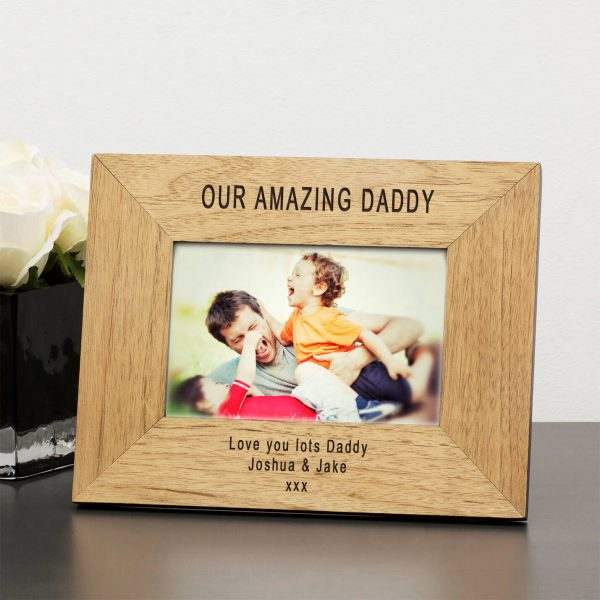 Personalised Wooden Photo Frame – My Amazing Daddy