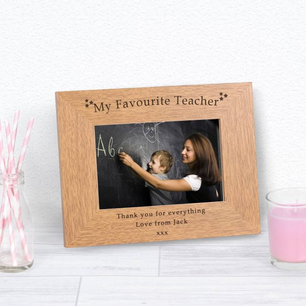 Personalised Wooden Photo Frame – Teacher