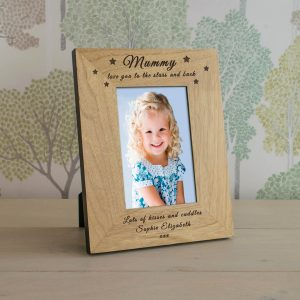 Personalised Wooden Photo Frame – Stars and Back