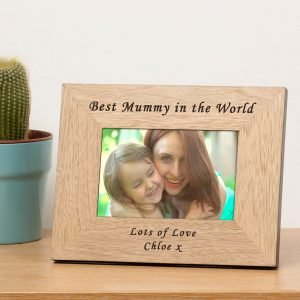 Personalised Wooden Photo Frame – Best Mummy