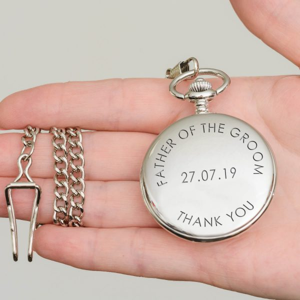Personalised Value Pocket Watch (Curved Text) – Your Message