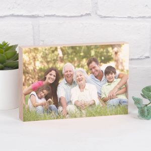 Personalised Solid Beech Photo Block – Upload Your Photo