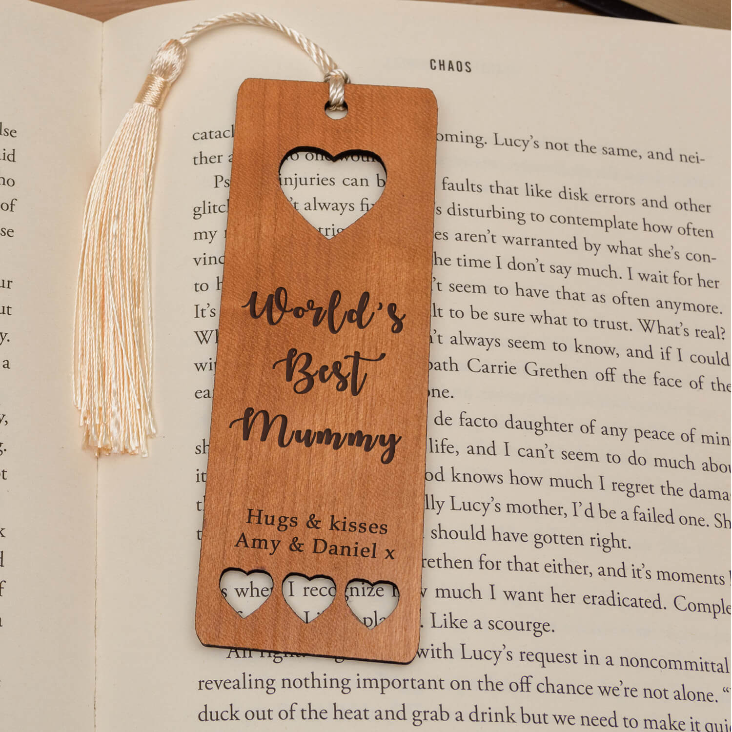 Personalised Wooden Bookmark – World's Best…