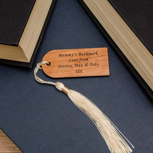 Personalised Wooden Bookmark – Your Message (Tag)