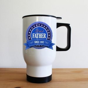 Personalised Best Father Since Travel Mug