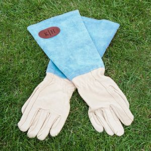 Personalised Leather Gardening Gloves – Initials