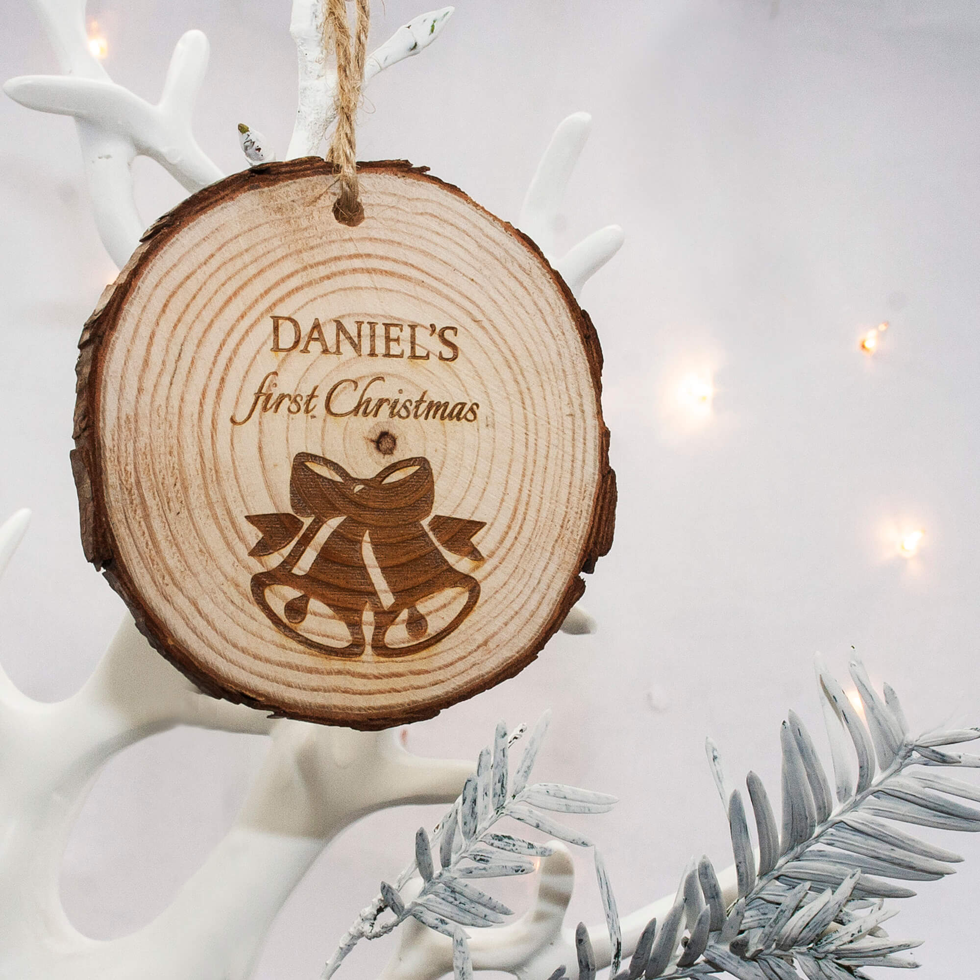 Personalised Christmas Bell Hanging Decoration