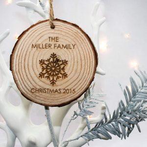 Personalised Christmas Snowflake Hanging Decoration