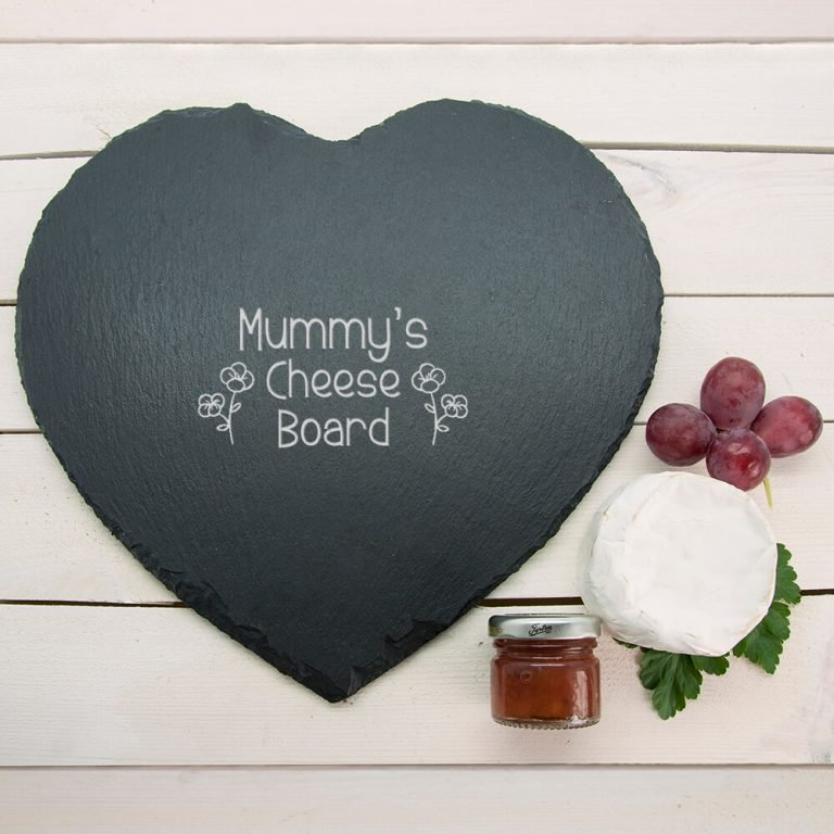 Personalised Slate Cheese Board – Children's Handwriting