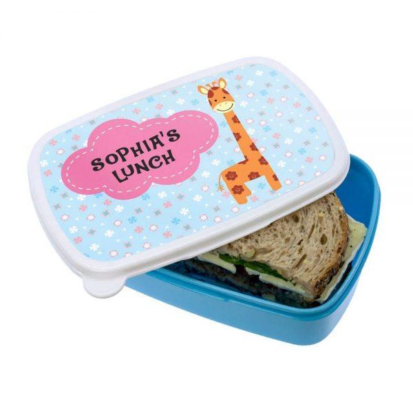 Personalised Lunch Box – Happy Giraffe