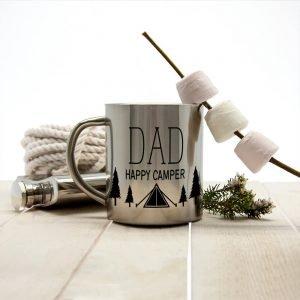 Personalised Dad's Happy Camper Outdoor Mug