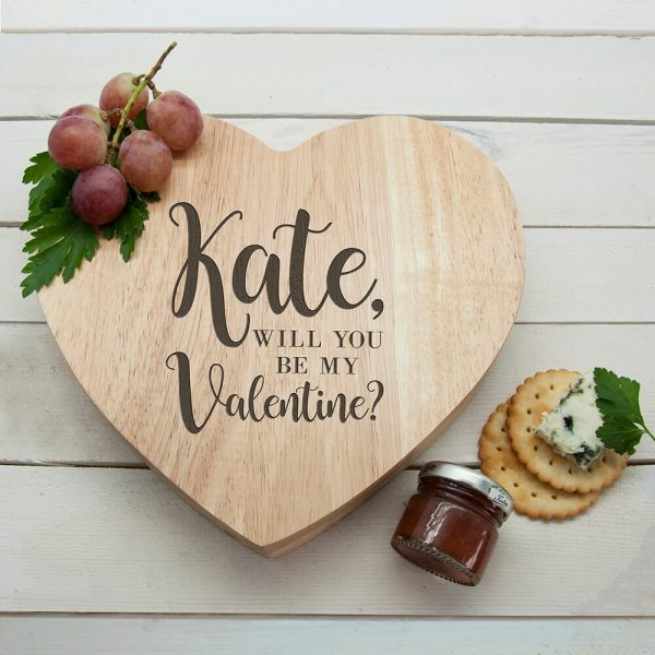 Personalised Cheese Board – Be my Valentine