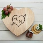 Personalised Cheese Board – Carved Heart