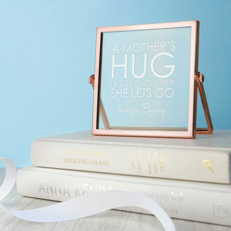 Personalised Rose Gold Frame – A Mother's Hug