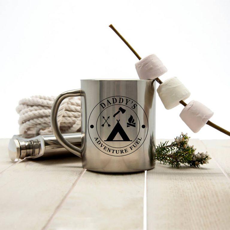 Personalised Gentlemen's Adventure Fuel Outdoor Mug