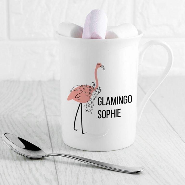 Personalised Glamingo Bone China Mug