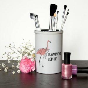 Personalised Make Up Brush Holder – Glamingo