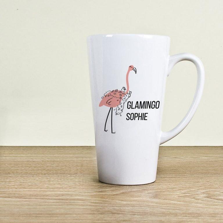 Personalised Glamingo Latte Mug