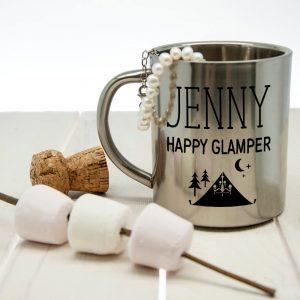 Personalised Happy Glamper Outdoor Mug