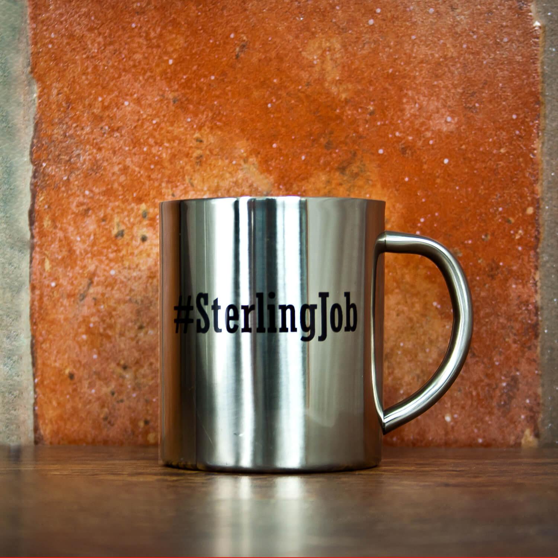 Personalised Hashtag Silver Outdoor Mug
